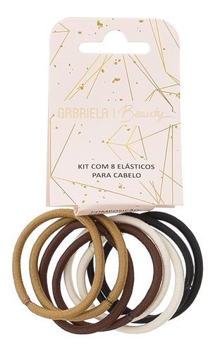 Kit Oito Elásticos Para Cabelo Gabriela Beauty Color
