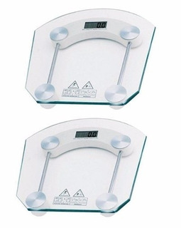 Kit 2 Balança Digital Vidro Temperado Para Se Pesar Em Casa