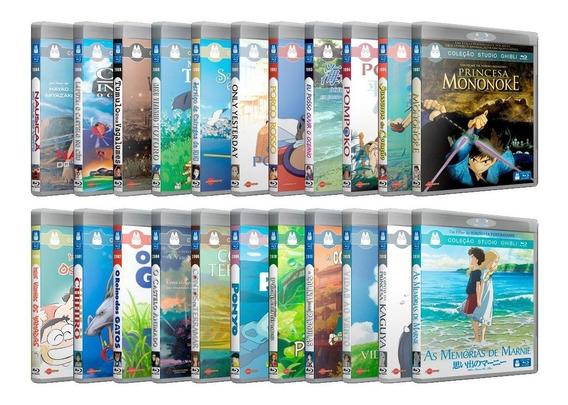 Studio Ghibli Coleção Blu-ray 29 Filmes/especiais E Serie Tv