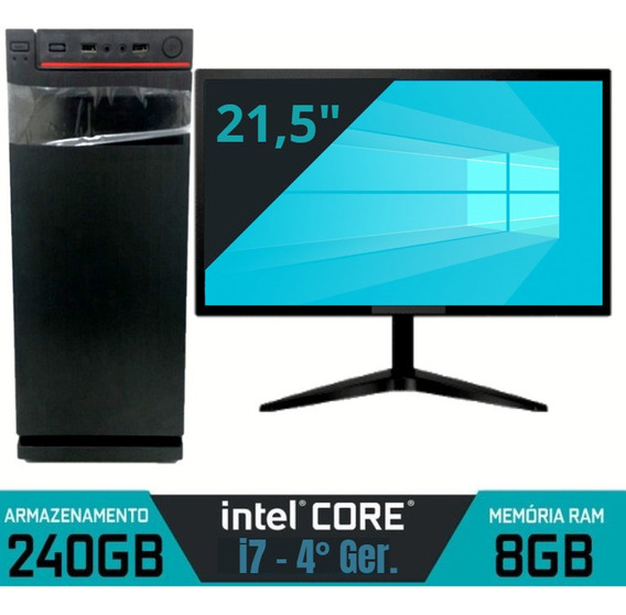 Cpu Nova+monitor Core I7 Ssd 240gb + Ram 8gb