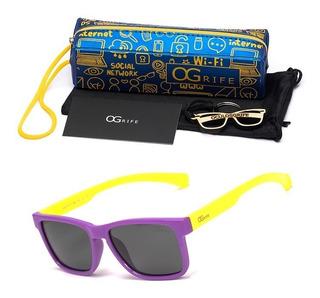 Oculos Ogrife Solar Infantil Og 965-i Unissex Polarizado