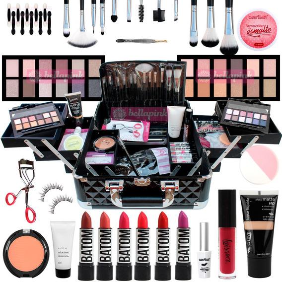 Maleta Maquiagem Profissional Completa Avon Ruby Rose Matte