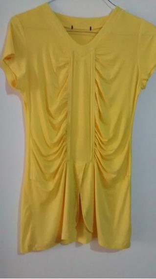Blusa (camisa) Para Dama Amarilla Talla M - Remato
