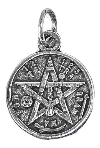 Medalla Tetragrammaton Proteccion En Plata 1,5 Cm Art 776