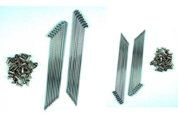 Raio Honda Xre300 4mm Dianteiro E Traseiro (par) Cromados