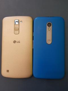 Lote Com 01 LG K10 E Moto G3 Com Tela Quebrada.