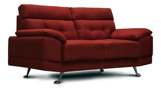Love Seat De Tela - Dublin Rojo Lino - Confortopiel