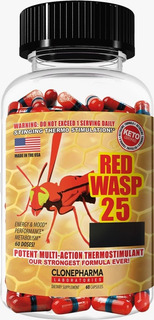 Red Wasp 25 60 Caps Clone Pharma Termogênico Usa Cetogênica