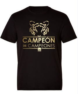 Camiseta Conmemorativa Tigres Campeón De Campeones Negra