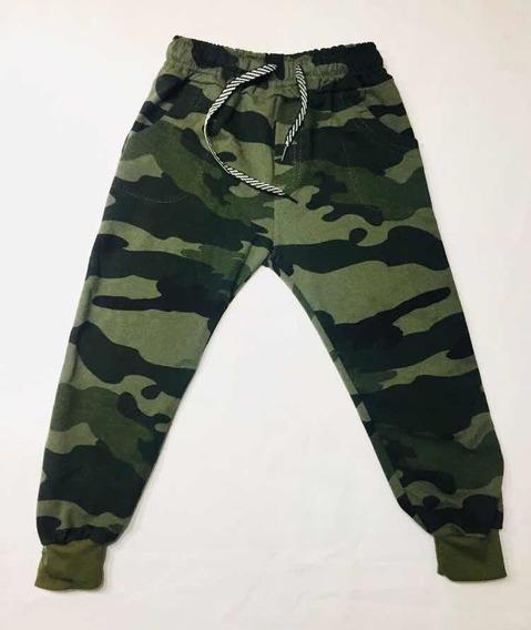 Pantalón Rústico Camuflado Con Bolsillo Y Puño Para Nenes