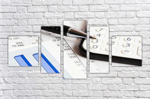 Imagem 1 de 5 de Quadro Decorativo Escritórios De Economia Contabilidade 003