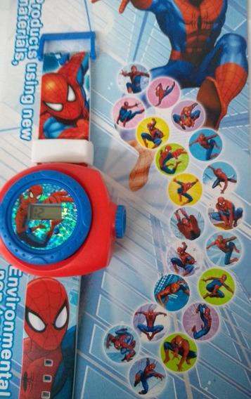 Relogio Homem Aranha Com Projetor De Imagens Infantil