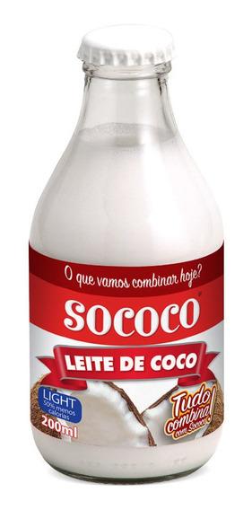 Kit Leite De Coco Sococo Light 200 Ml - 6 Unidades