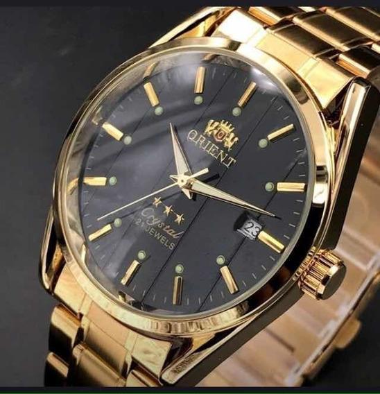 Relógio Orient Automático Original Dourado.