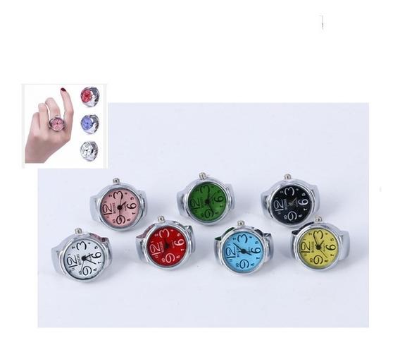 Anillo Reloj Paquete Con 10 Pzas En Varios Colores