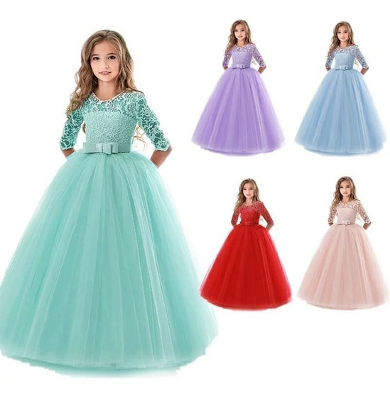 Vestidos Niña Bautizo Paje Matrimonio Gala Princesa