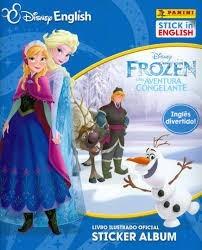 Álbum Frozen Uma Aventura Congelante Inglês + 100 Figurinhas