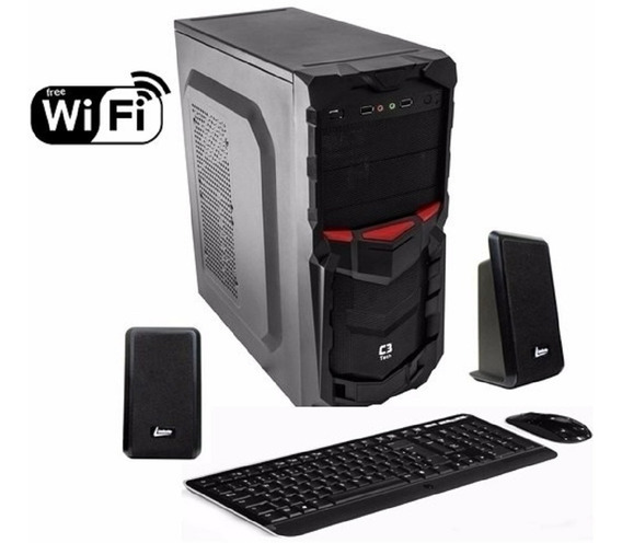 Computador Cpu Intel Core I3 4gb Ddr3 Hd 500gb + Wi Fi