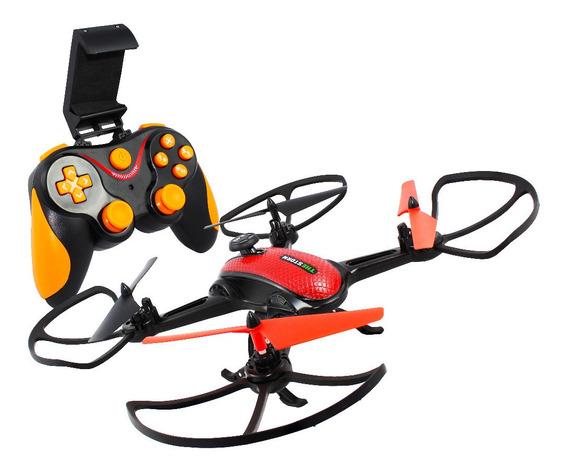 Drone Com Camera E Controle Quadricoptero Espiao Intruder