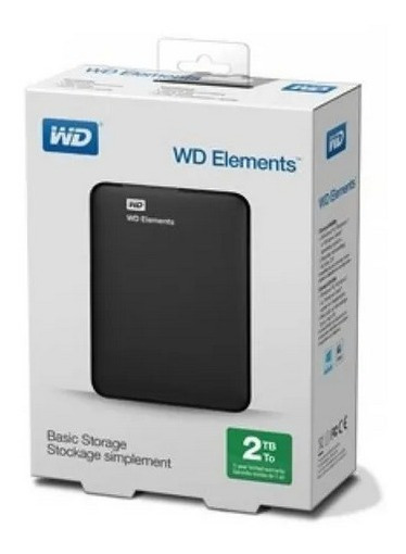 Hd Externo 2tb Wd Portatil Western Digital Elements
