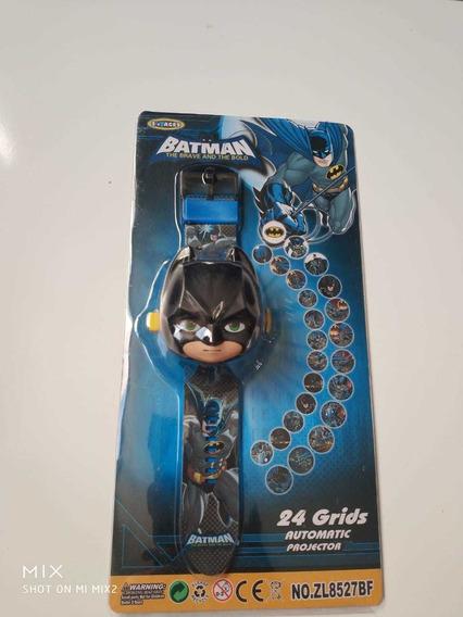 Relógio Infantil Batman Muito Legal Projeta Imagem +brinde