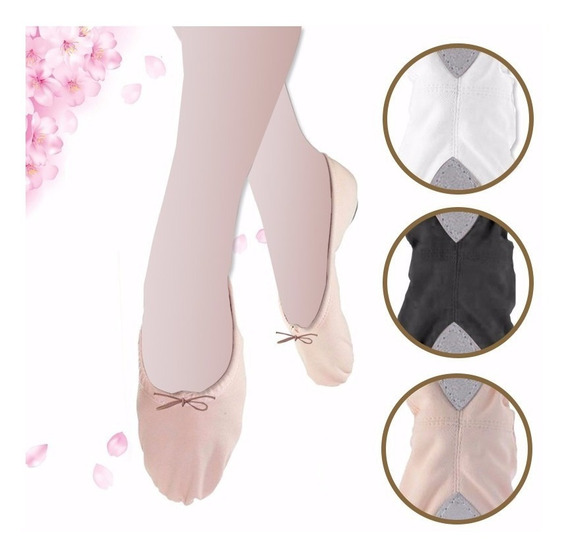 Zapatilla Danza, Ballet Y Gimnasia Lona Alta Calidad