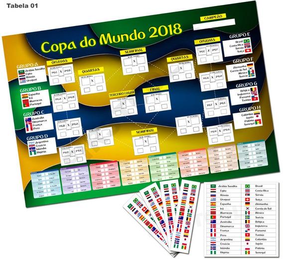Placa Tabela Copa Do Mundo 2018 Editável Mdf3mm Mod01