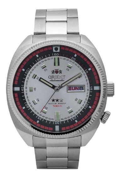 Relógio Orient Automático F49ss002 Submarino Prata Retro