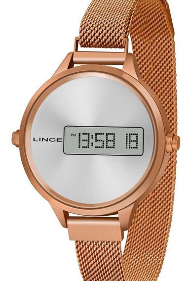 Relógio Lince Feminino Digital Rose Gold Sdr4636l Sxrx