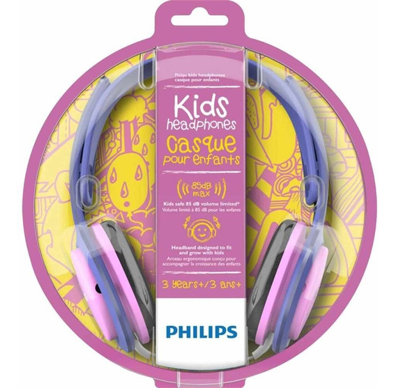 Fone De Ouvido Philips Com Limitador De Volume Linha Kids