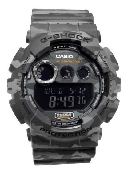 Relógio Casio G-shock Gd120cm8dr Cinza Original