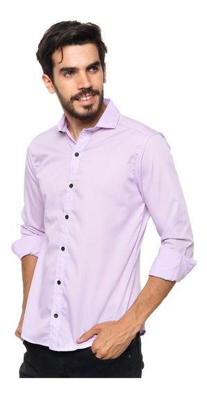 Pack X4 Camisas Entalladas De Hombre Slim Fit Varios Colores