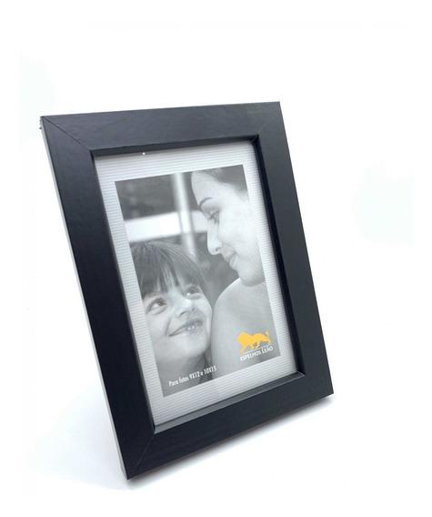 Porta Retratos Fotos Momentos 10x15 Preto C/ Vidro