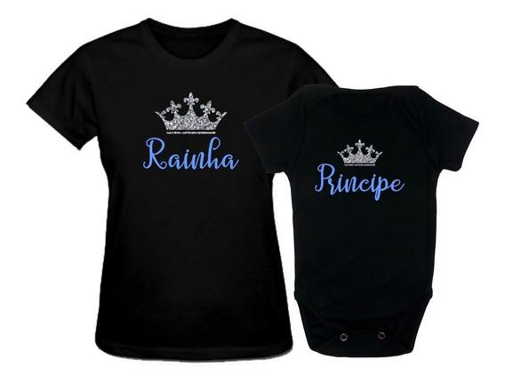 Kit Tal Mae Tal Filha Tal Filho Camiseta Body Personalizada