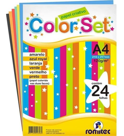 Color Set Romitec A4 120gr Com 24 Fls 4306r 25299