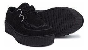 36b5f292 Zapato Puchetty Creeper Negro Carnaza Mujer