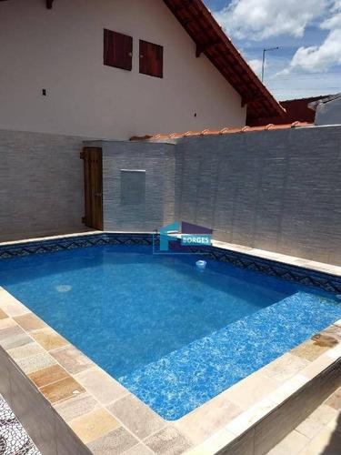 Casa Alto Padrão Lado Praia, Com Piscina!!! Somente R$340mil Minha Casa Minha Vida Utilize Seu Fgts Whats (13) 98174-2222 - Ca0682