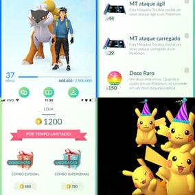 Card Pokémon Go Conta 37 Quase 38 Team Mystic Promoçâo