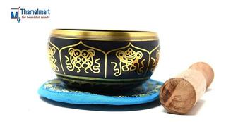 Exquisito Cuenco Tibetano De 4 Pulgadas Fabricado En Nepal