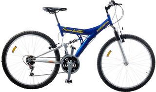 Bicicleta Mtb Doble Suspension 21v Rodado 26 Siambretta