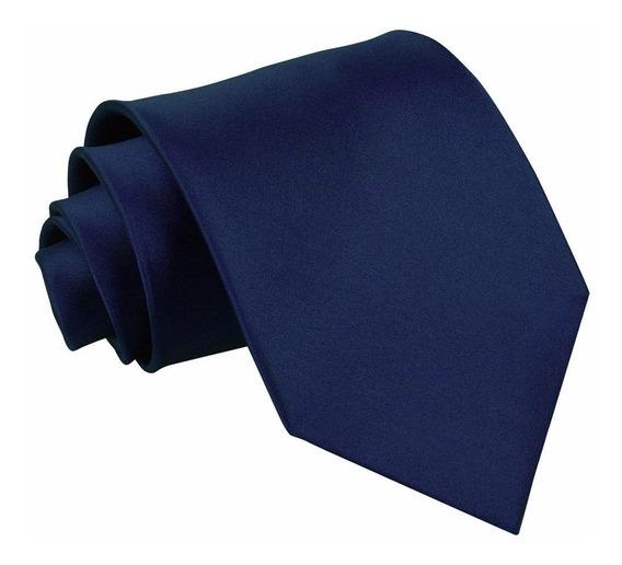 20 Gravatas Social Azul Marinho Pronta Entrega. Ref: 253
