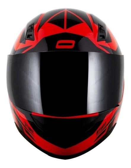 Capacete para moto integral Norisk FF391 Cutting black, red tamanho 56