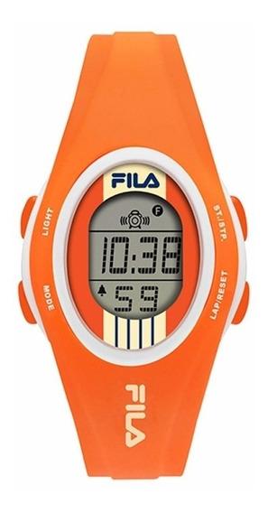 Reloj Digital Fila 38-050-204 Naranja/bco 100% Original Uni*