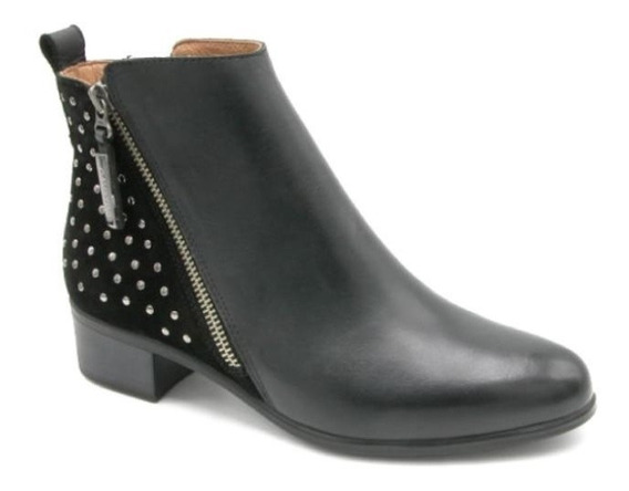 Botita Cavatini F. Comb. Negro - Bota Doble Cierre - 42-3152