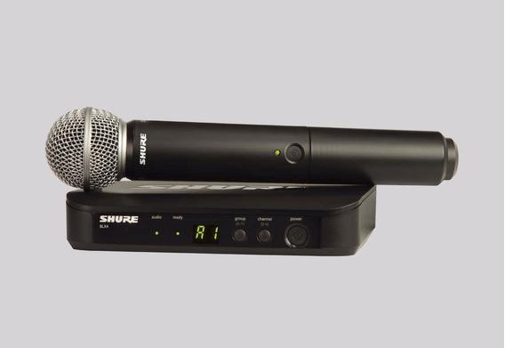 Sistema Sem Fio Shure Blx24/sm58 Com Microfone Receptor