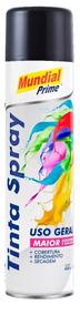 Tinta Spray Preto Brilhante 400ml Mundial Prime Fardo Com 6