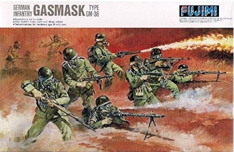 German Infantry Gasmask Type Gm-38 1/76 Fujimi 76028