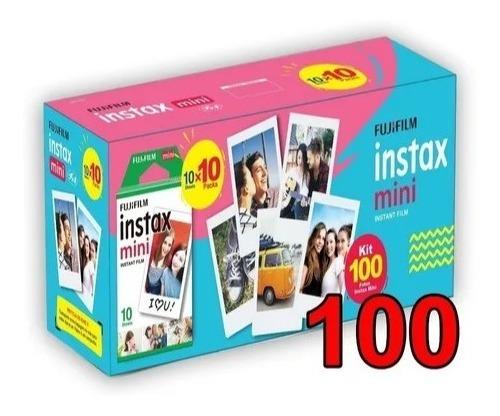 Filme Para Instax Mini 9 8 7s 90 70 Pack Com 100 Fotos
