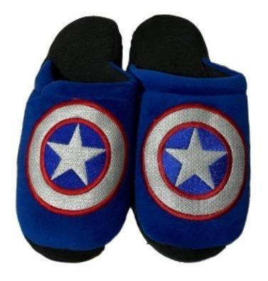 Pantuflas Bordadas Capitán America