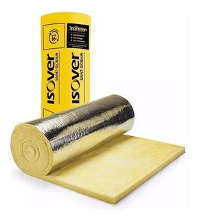 Lana De Vidrio Isover 100mm C/aluminio Rolac Plata Hr 13.2m2 Somos Distribuidores!!